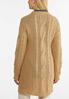 Plus Size Relaxed Cable Knit Cardigan Sweater alternate view