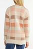 Pink Plaid Cardigan Sweater alt view