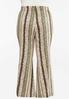 Plus Size Stripe Floral Flare Pants alternate view