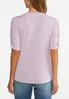 Cinched Sleeve Top alternate view