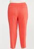 Plus Size Spice Coral Bengaline Pants alternate view