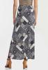 Plus Size Navy Patchwork Maxi Skirt alternate view