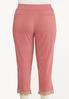 Plus Size Cropped Crochet Bengaline Pants alternate view