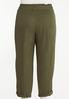 Plus Size Paperbag Waist Utility Pants alternate view