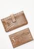 Croc Card Holder Wallet alt view