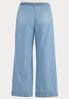 Plus Size Belted Light Wash Jeans alternate view