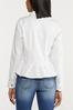 Plus Size White Peplum Denim Jacket alt view
