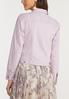 Plus Size Lavender Denim Jacket alternate view
