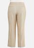 Plus Size Tan Trouser Pants alternate view