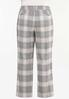 Plus Petite Lavender Plaid Trouser Pants alternate view