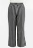 Plus Size Stripe Wide Leg Pants alternate view