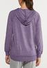 Plus Size Purple Faded Wash Hoodie alternate view