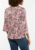 Plus Size Ruched Splattered Dot Top alternate view