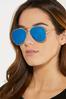 Blue Aviator Sunglasses alternate view