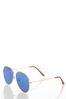 Blue Aviator Sunglasses alt view