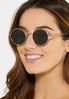 Round Gold Sunglasses alt view