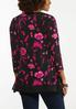 Plus Size Fuchsia Floral Sharkbite Top alternate view