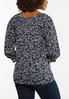 Plus Size Navy Cutout Sleeve Top alternate view