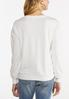 Eyelet Lace Trim Sweatshirt alternate view