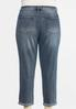 Plus Size Distressed Colored Stitch Jeans alternate view