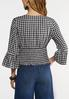 Plus Size Gingham Smocked Top alternate view