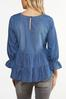 Plus Size Tiered Chambray Top alt view