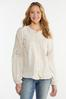 Plus Size Ivory Embroidered Top alternate view