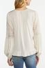 Plus Size Ivory Embroidered Top alt view