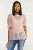 Lacy Peplum Puff Sleeve Top alternate view
