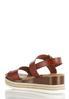 Cognac Flatform Wedge Sandals alternate view