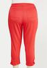 Plus Size Cropped Ruched Colored Jeans alternate view