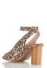 Leopard Cylinder Heel Sandals alternate view