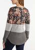 Plus Size Floral Colorblock Top Mask Set alt view