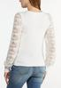 Plus Size Lace Sleeve Hacci Top alternate view