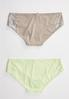 Plus Size Gray And Green Lace Panty Set alternate view