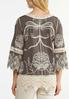 Plus Size Embroidered Bell Sleeve Top alternate view