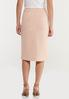 Plus Size Textured Blush Pencil Skirt alternate view