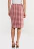 Plus Size Rose Plaid Pencil Skirt alternate view