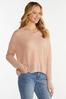 Blush V- Neck Sweater alternate view