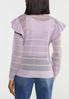 Striped Ruffled Sleeve Sweater alternate view