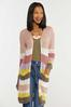 Plus Size Sweet Stripe Cardigan Sweater alternate view