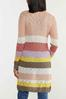 Plus Size Sweet Stripe Cardigan Sweater alt view