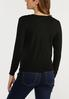 Plus Size Ruched Sleeve Cardigan Sweater alternate view