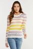 Plus Size Pastel Stripe Sweater alternate view