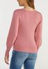 Plus Size Rose Balloon Sleeve Sweater alternate view