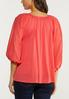 Plus Size Spice Coral Balloon Sleeve Top alternate view