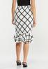 Plus Size Plaid Double Ruffle Skirt alternate view