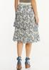 Plus Size Tiered Lace Midi Skirt alternate view