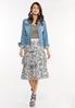 Plus Size Tiered Lace Midi Skirt alt view