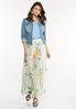 Mesh Floral Maxi Skirt alt view